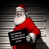 Santa - Breaking and Entering 2 Stock Photo