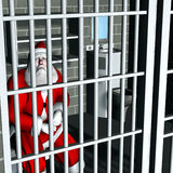 Santa - Breaking and Entering Stock Image