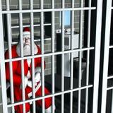 Santa - Breaking and Entering Stock Image