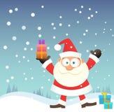 Santa bring gift Stock Photo