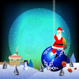 Santa bring presents Royalty Free Stock Image