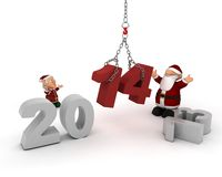 Santa bringing in the new year Royalty Free Stock Photo