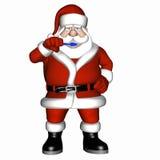 Santa Brushing Teeth 1 Royalty Free Stock Images