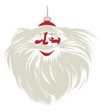 Santa bubble face. In Stock Image