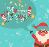 Santa and bubble with lettering. Stock Image