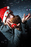 Santa bubbles Royalty Free Stock Image