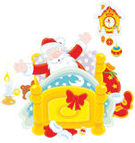 Santa budzi się up Fotografia Royalty Free
