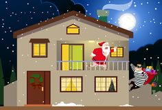 Santa & the Burglar Stock Image