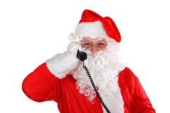 Santa calling Stock Images