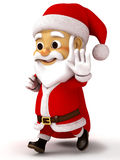 Santa caluse holding big sack Royalty Free Stock Photos