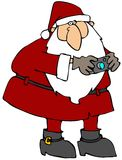 Santa With A Camera Royalty Free Stock Photography