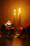 Santa in candles light Royalty Free Stock Photography