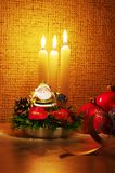 Santa in candles light Stock Photography