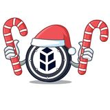 Santa with candy bancor coin mascot cartoon. Vector illustration Royalty Free Stock Photo