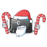Santa with candy capslock button isolated with the cartoon. Vector illustration royalty free illustration