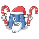 Santa with candy jelly character cartoon style Stock Photo