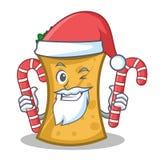 Santa with candy kebab wrap character cartoon. Vector illustration vector illustration