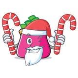 Santa with candy purse character cartoon style. Vector illustration Stock Photos