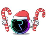 Santa with candy request network coin mascot cartoon. Vector illustration Stock Photos