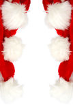 Santa cap. Red and white Santa Claus hat on a white background Royalty Free Stock Photos