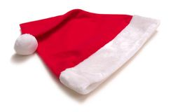 Santa Cap. Laying down royalty free stock photo