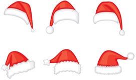 Santa cap set Stock Photos