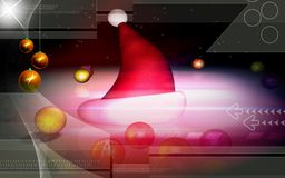 Santa cap and stars Royalty Free Stock Images