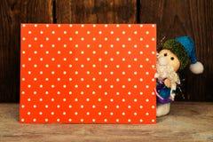 Santa with card. Royalty Free Stock Photo
