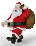 Santa carring the bag 2 Royalty Free Stock Photos