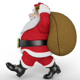 Santa carring the bag 3 Royalty Free Stock Photography