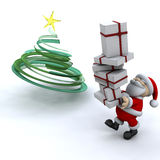 Santa carrying gifts Stock Photo