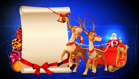 Santa carrying a gifts in his sleigh Royalty Free Stock Photo