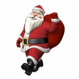 Santa carrying sack of gifts Stock Image