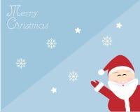 Santa in cartolina di Natale allegra Immagini Stock Libere da Diritti