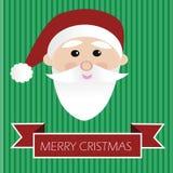 Santa in cartolina di Natale allegra Fotografia Stock