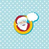 Santa cartoon card Stock Photos