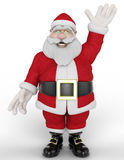 Santa cartoon wave Stock Photos