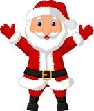 Santa cartoon waving Stock Photos
