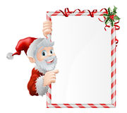 Santa Cartoon Xmas Sign Royalty Free Stock Images