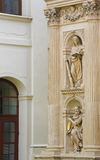 Santa Casa, Loreta, Prague. Statue of a Sybil and an Old Testament Prophet at the Santa Casa of Loreta, a large pilgrimage destination in Hradcany, Prague, Czech Stock Image