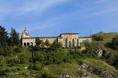 Santa Casilda shrine, La Bureba, Burgos province, Castile-Leon S. View of Santa Casilda, shrine, La Bureba, Burgos province, Castile-Leon Spain stock photography