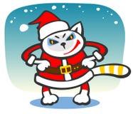 Santa Cat Royalty Free Stock Photos