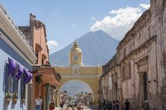 Santa Catalina Arch Antigua Guatemala arkivfoton