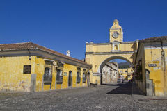 Santa Catalina Arch, Antigua, Guatemala. Antigua, Guatemala - December 25, 2012: Built in the 17th century, the Santa Catalina arch is one of the most Royalty Free Stock Photography