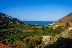 Santa Catalina bay, La Gomera. Santa Catalina bay with banana plantations, La Gomera, Canary islands royalty free stock photo