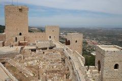 Castle of Santa Catalina de Jaen in Andalusia Spain. The Santa Catalina castle of the city of Jaen in Andalusia, south of Spain. It is one of the best tourist Royalty Free Stock Photo