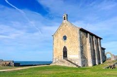 Santa Catalina eremitboning i Mudaka. Baskiskt land Arkivbilder
