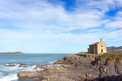 Santa Catalina ermitaż w Mudaka. Baskijski kraj Fotografia Stock