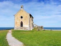 Santa Catalina ermitaż w Mudaka. Baskijski kraj Fotografia Royalty Free