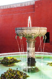 Santa Catalina fountain in Arequipa monastery Royalty Free Stock Photo